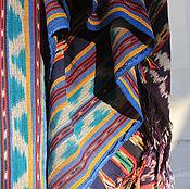 """Для дома и интерьера ручной работы. Ярмарка Мастеров - ручная работа Легкое покрывало ручной выделки в технике """"Икат"""".. Handmade."""