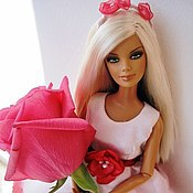 Куклы и игрушки ручной работы. Ярмарка Мастеров - ручная работа Платье для Барби Фея цветов. Handmade.