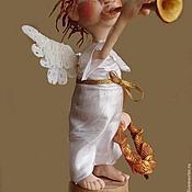 Куклы и игрушки ручной работы. Ярмарка Мастеров - ручная работа Ангел трубящий. Handmade.
