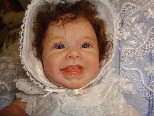 Куклы-младенцы и reborn ручной работы. Ярмарка Мастеров - ручная работа. Купить Улыбашка. Handmade. Бежевый