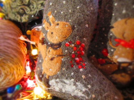 """Обувь ручной работы. Ярмарка Мастеров - ручная работа. Купить Валенки унисекс, """"Зимнее свидание"""". Handmade. Рыжий, подарок на новый год"""
