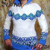 """Одежда ручной работы. Ярмарка Мастеров - ручная работа Женский свитер """"Скади"""", авторская работа. Handmade."""