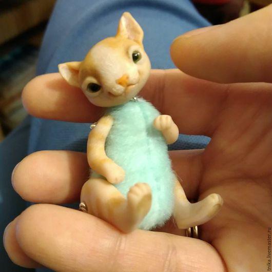 Игрушки животные, ручной работы. Ярмарка Мастеров - ручная работа. Купить Мини кот. Handmade. Голубой, котик, игрушка, котенок