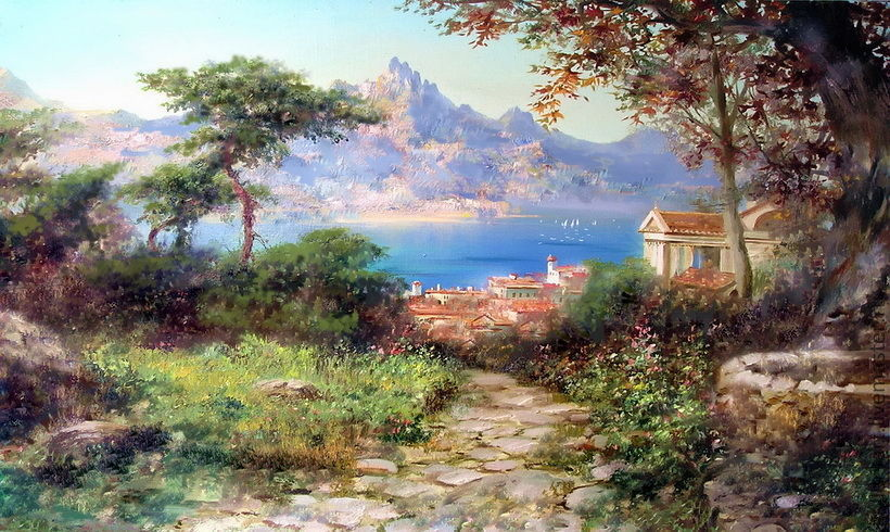 Painting 'Italian landscape', Pictures, St. Petersburg,  Фото №1