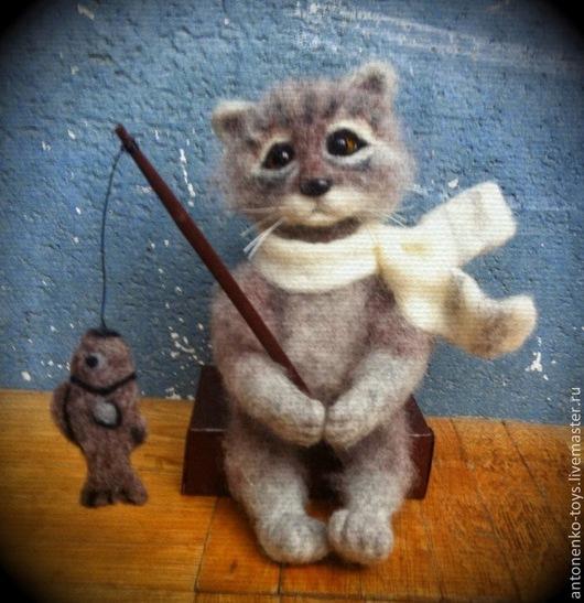 Игрушки животные, ручной работы. Ярмарка Мастеров - ручная работа. Купить кот Василий. Handmade. Кот, подарок на любой случай