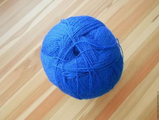 """Вязание ручной работы. Ярмарка Мастеров - ручная работа. Купить Пряжа """"Лидия"""" семеновская. Handmade. Синий, пряжа для шалей"""