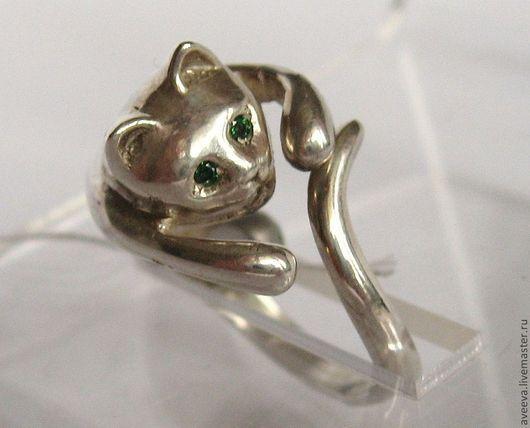 """Кольца ручной работы. Ярмарка Мастеров - ручная работа. Купить Кольцо """"Кот-Баюн""""(серебро). Handmade. Серебряный, кольцо, перстень, украшение"""