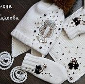 """Работы для детей, ручной работы. Ярмарка Мастеров - ручная работа Комплект зимний  - """" Совушка в белом"""". Handmade."""