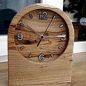 Часы классические ручной работы. Ярмарка Мастеров - ручная работа Часы настольные из дуба. Handmade.