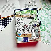 "Блокноты ручной работы. Ярмарка Мастеров - ручная работа Блокнот (moomin book)  ""Муми-папа за мемуарами "". Handmade."