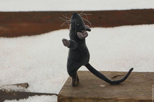 Игрушки животные, ручной работы. Ярмарка Мастеров - ручная работа. Купить Крыска мягкая игрушка. Handmade. Серый, татьяна сулимова