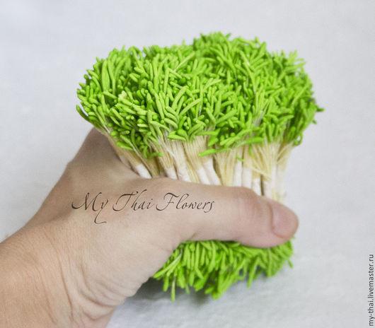 Тычинки. Удлиненные зеленые головки. My Thai материалы для флористики из Таиланда