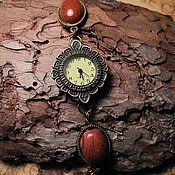 Украшения handmade. Livemaster - original item Vintage watch with aventurine.. Handmade.