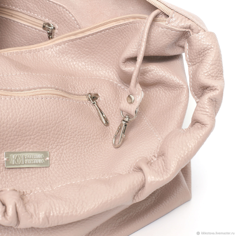 My Handbags handmade. Pink Bag Hobo Bag Duffel Shopper Ash Rose Powder.  BagsByKaterinaKlestova. 204691e3e960d