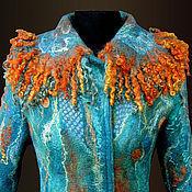 """Одежда ручной работы. Ярмарка Мастеров - ручная работа пальто валяное  """"Бирюзовая мечта"""". Handmade."""