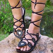 """Обувь ручной работы. Ярмарка Мастеров - ручная работа Кожаные сандалии """"Crazy Sexy"""". Handmade."""