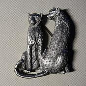 Винтаж handmade. Livemaster - original item The TWO CHEETAH brooch by JJ. Handmade.