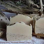 """Косметика ручной работы. Ярмарка Мастеров - ручная работа Натуральное мыло """"Молочная овсянка"""" на козьем молоке. Handmade."""