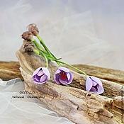 Flowers handmade. Livemaster - original item Crocuses. Handmade.