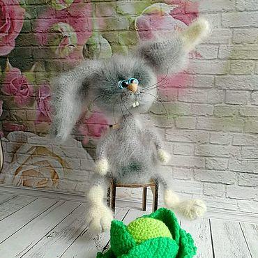 """Куклы и игрушки ручной работы. Ярмарка Мастеров - ручная работа """"Зая и капуста"""". Handmade."""