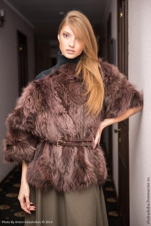 Верхняя одежда ручной работы. Ярмарка Мастеров - ручная работа. Купить меховой свитер. Handmade. Мех натуральный, мода 2015