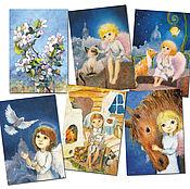 Открытки handmade. Livemaster - original item Spring cards Set for Easter or birthdays. Handmade.