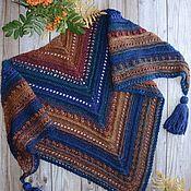 Аксессуары handmade. Livemaster - original item Shawl knitted with tassels Spicy autumn. Handmade.