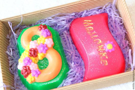 Мыло ручной работы. Ярмарка Мастеров - ручная работа. Купить Подарочный набор на 8 марта для мамы. Handmade. Разноцветный