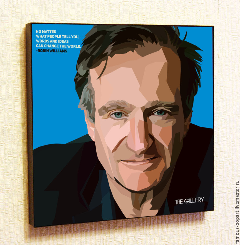 Picture poster Robin Williams Pop Art, Fine art photographs, Moscow,  Фото №1