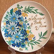 Тарелки ручной работы. Ярмарка Мастеров - ручная работа Декоративная тарелка. Handmade.