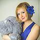 Броши ручной работы. Синяя роза. Шелк. Мастерская-'Butterfly silk' (dayanashter). Интернет-магазин Ярмарка Мастеров. Цветы из шелка