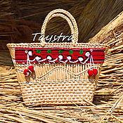 Сумки и аксессуары ручной работы. Ярмарка Мастеров - ручная работа Плетеная сумка ручной работы декорированная в этно стиле. Handmade.