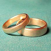 Свадебный салон ручной работы. Ярмарка Мастеров - ручная работа Обручальные кольца Бочки из золота 585 пробы на заказ. Handmade.