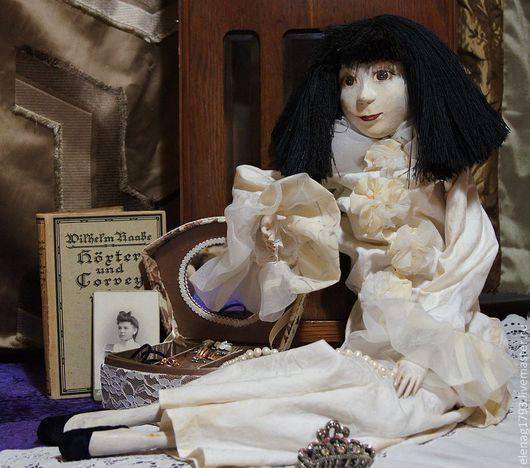 Коллекционные куклы ручной работы. Ярмарка Мастеров - ручная работа. Купить Пьеро. Handmade. Белый, пьеро, Папье-маше