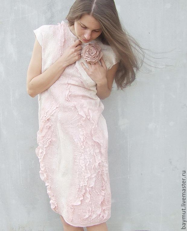 """Платье """"Розовая пыль"""". Нунофелтинг, Платья, Луганск,  Фото №1"""
