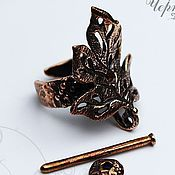 Заготовки для украшений ручной работы. Ярмарка Мастеров - ручная работа Основа для кольца 2210-600 (1). Handmade.