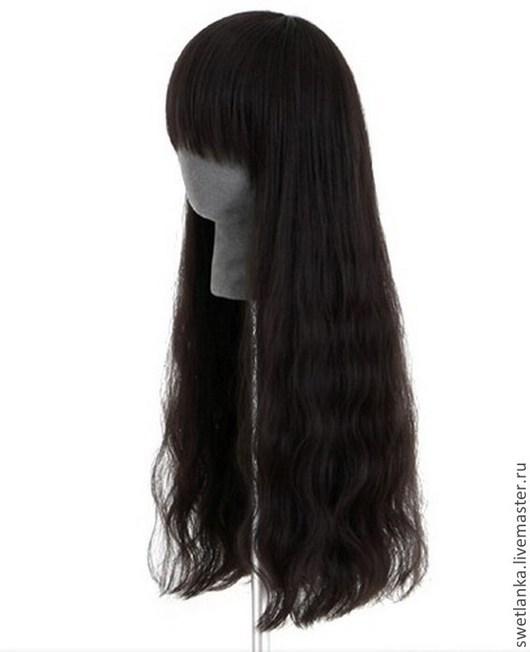 Ролевые игры ручной работы. Ярмарка Мастеров - ручная работа. Купить Волнистые черные волосы (парик). Handmade. Черный, красивый