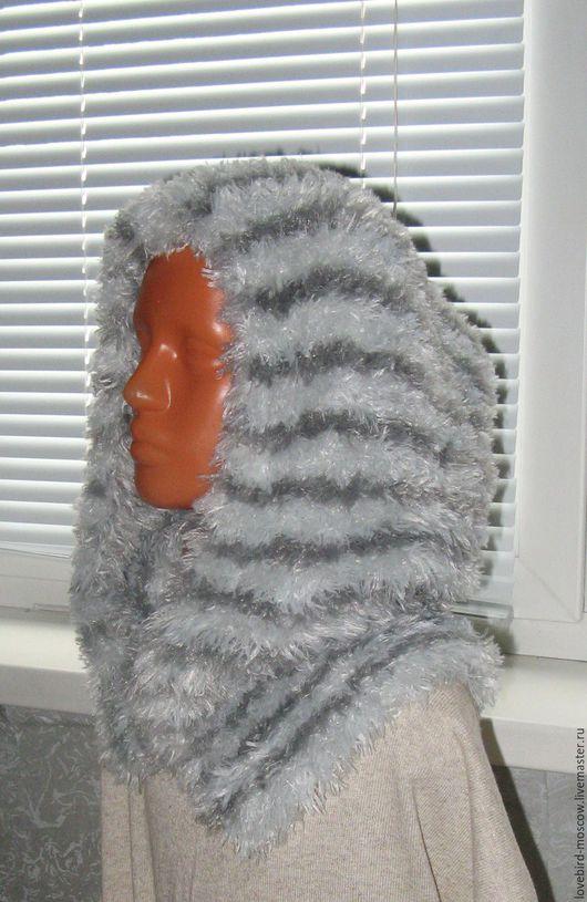 Шарфы и шарфики ручной работы. Ярмарка Мастеров - ручная работа. Купить Хомут-капюшон. Handmade. Серебряный, хомут вязаный