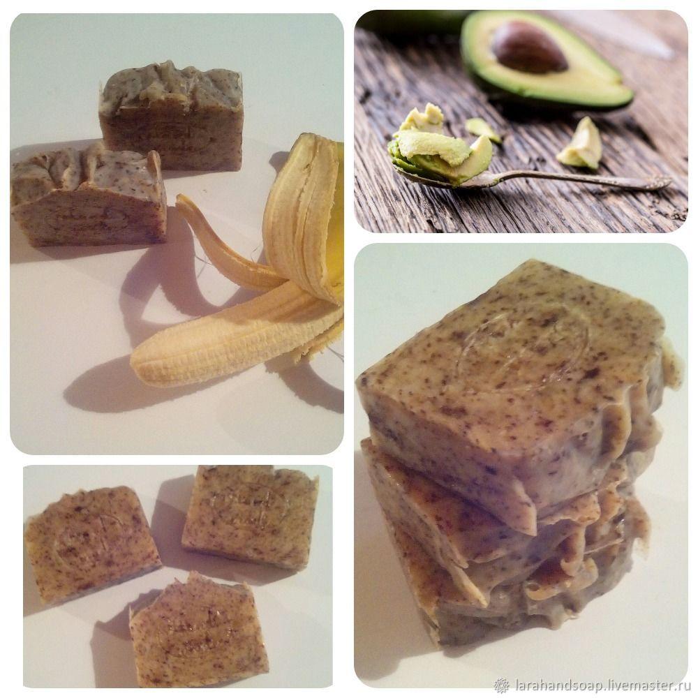 Натуральный твердый шампунь Банан+Авокадо, Шампуни, Калининград, Фото №1