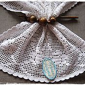 Для дома и интерьера ручной работы. Ярмарка Мастеров - ручная работа Салфетка вязаная в филейной технике. Handmade.