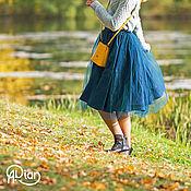 """Одежда handmade. Livemaster - original item Tutu skirt """"Audrey"""", midnight green. Handmade."""