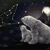 Картины и панно ручной работы. Ярмарка Мастеров - ручная работа Полярная ночь. Handmade.