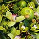 Букеты ручной работы. Заказать Корзина из орхидей с яблоками. Наталья Крюкова. Ярмарка Мастеров. Орхидея цимбидиум, подарок, орхидея, краспедия