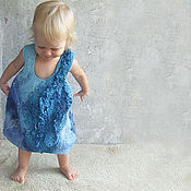 Работы для детей, handmade. Livemaster - original item Baby dress - cylinder. Felt, very tender.. Handmade.