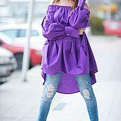 Одежда handmade. Livemaster - original item Fashionable Cotton Tunic - TU0456CT. Handmade.