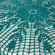Текстиль, ковры ручной работы. Мини-скатерть Цвета Морской Волны. Марина. Ярмарка Мастеров. Подарок женщине