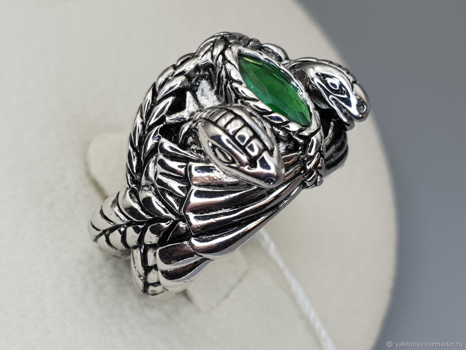 Silver ring with fluorite 8h4 mm, Rings, Moscow,  Фото №1