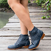 Обувь ручной работы handmade. Livemaster - original item Womens leather boots Megan. Women`s shoes for spring and autumn. Handmade.