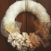 Для дома и интерьера ручной работы. Ярмарка Мастеров - ручная работа Интерьерное украшение венок. Handmade.