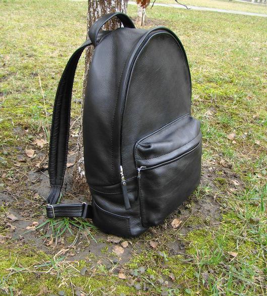 Рюкзаки ручной работы. Ярмарка Мастеров - ручная работа. Купить Качественный кожаный рюкзак. Индивидуальный пошив. Handmade. Черный